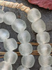 Frosty Ghana Glass Beads (14x13mm)