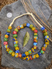 Mixed Fused Ghana Glass Beads (12x11mm)