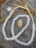 Frosty 'Bucket' Ghana Glass Beads (11x12mm)
