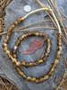 Gold Cloud 'Bucket' Ghana Glass Beads (11x9mm)