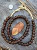 Bronze 'Bucket' Ghana Glass Beads (12x11mm)