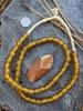 Gold 'Bucket' Ghana Glass Beads (10x8mm)