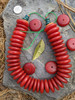 Red Copal Disk Beads