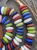 Mixed Ashanti Ghana Glass Disk Beads (14x5mm)