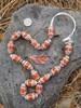 Orange African Fancy Glass Beads