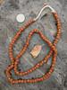 Orange Striped Gooseberry Beads