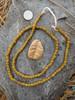 Yellow Striped Gooseberry Beads