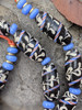 Black African Fancy Glass Beads
