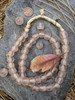 Pink Ghana Glass Beads (12x14mm)