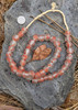 Red Cloud Ghana Glass Beads (12-13x11-13mm)