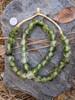 Green Cloud Ghana Glass Beads (13-14x12-13mm)