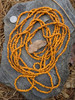 Orange Ghana Glass Beads - 3 Strands (4x3mm)