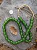 Forest Green Ghana Glass Beads (12x12mm)