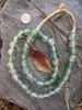 Green Cloud 'Bucket' Ghana Glass Beads (13x12mm)