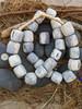 Dyed Large Batik Bone Beads