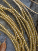 Gold Ghana Glass Beads - 6 Strands (4x3mm)