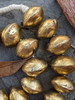 Coin Metal Brass Bicone Beads (21-27x19-25mm)