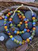 Fused Ghana Glass Beads (11x10mm)