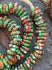 Green Fused Ghana Glass Disk Beads (12x3mm)