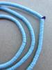 Blue Vinyl Disk Beads (4x1mm)