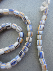 White Striped Gooseberry Beads