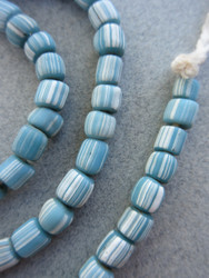 Blue Striped Gooseberry Beads