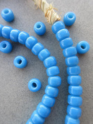 Light Blue Padre Beads (8x6mm)