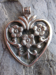 Large Silver Pendant (57x46mm)