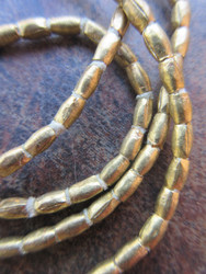 Brass Spacer Beads (3x4mm)