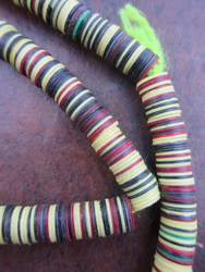 Mixed Vinyl Disk Beads (8x1mm)