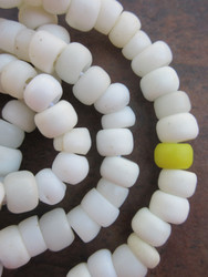 Old White Padre Beads (9x6mm)