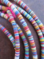 Mixed Vinyl Disk Beads (4x1mm)