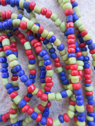 Mixed Ghana Glass Beads - 3 Strands (4x3mm)