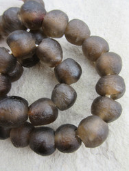 Umber Ghana Glass Beads (14x13mm)