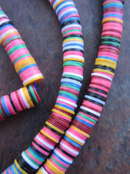 Mixed Vinyl Disk Beads (6x1mm)