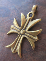 Large Brass Pendant (80x47mm)