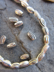 Silver Spacer Beads (9x4-5mm)