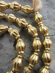 Fancy Brass Spacer Beads (8x11mm)