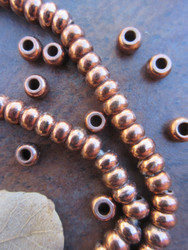 Copper Spacer Beads (6x4mm)