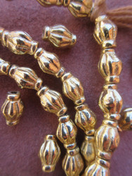 Fancy Brass Spacer Beads (7x11mm)