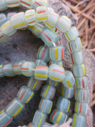 Blue-Green Striped Gooseberry Beads