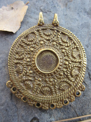 Large Brass Pendant (62x53mm)