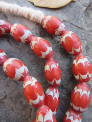 African Glass Chevron Beads