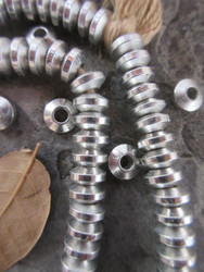 Silver Spacer Beads (8x4mm)