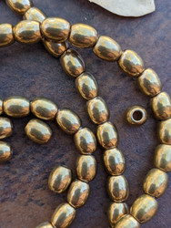 Old Brass Spacer Beads (6x7mm)