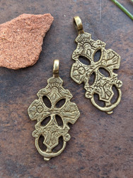 African Brass Pendants - 2 Pendants