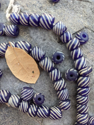 Vintage Striped Gooseberry Beads