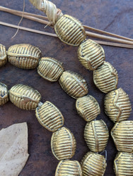 Wound Brass Beads (11x9mm)