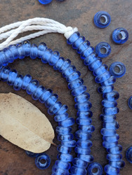 Olympic Blue Zusura Beads (6x4mm)