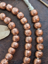 Copper Spacer Beads (8x7mm)